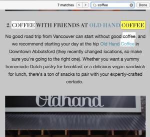 Find on Page Safari - GoMac Tips - GoMac Blog